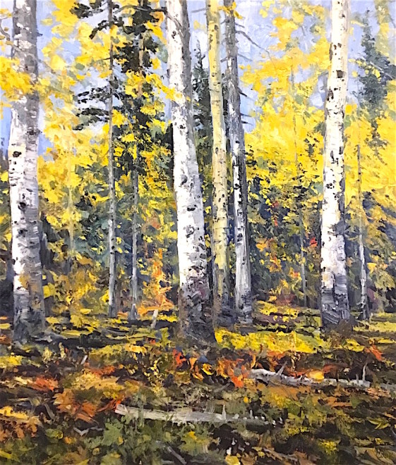 James Pringle Cook, Iron Door Mine - Aspens #1