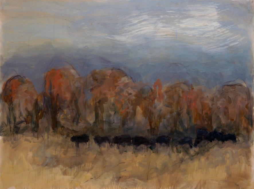 Works on Paper by Theodore Waddell, Red Willow Angus Dr. #7
