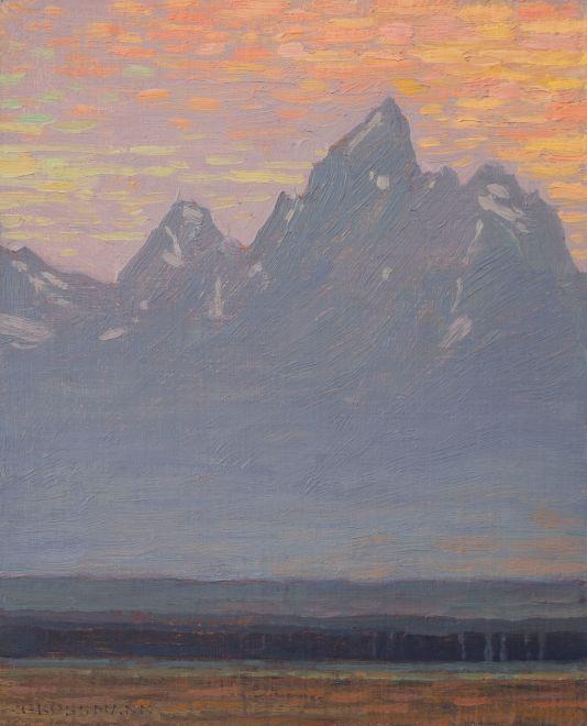 David Grossmann, Evening in the Tetons