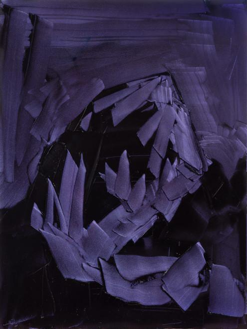 Jivan Lee, Grand Teton, ROYGBIV #2, Violet (quinacridone violet, ultramarine blue, dioxazine purple)