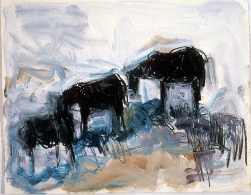Works on Paper by Theodore Waddell, Horse Drawing 083, 1986