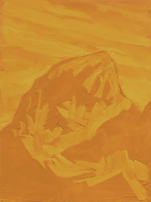 Jivan Lee, Grand Teton, ROYGBIV #3, Yellow (Hansa yellow deep)