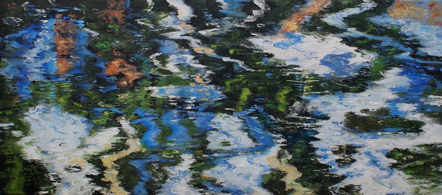 James Pringle Cook, Oak Creek- Raindrops
