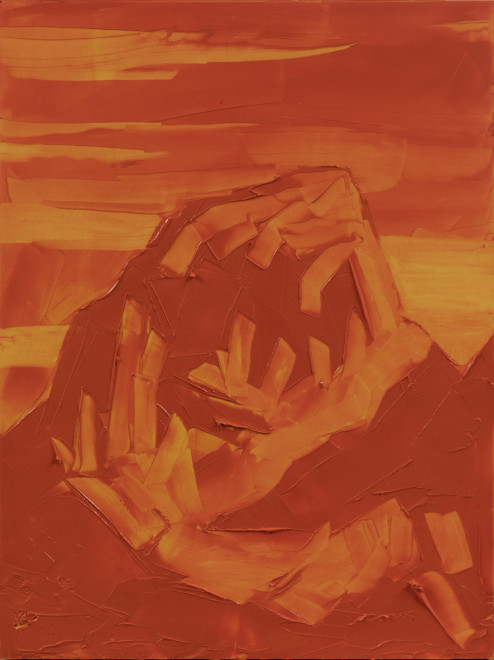 Jivan Lee, Grand Teton, ROYGBIV #3, Orange (transparent orange)