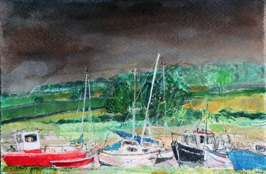 Summer, Dark Skies at Alnmouth