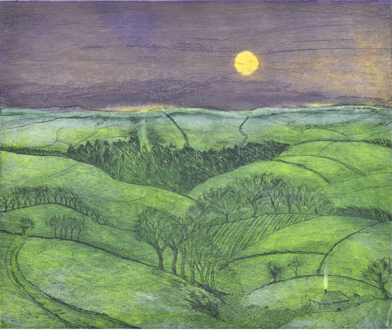 Moonrise over Exmoor
