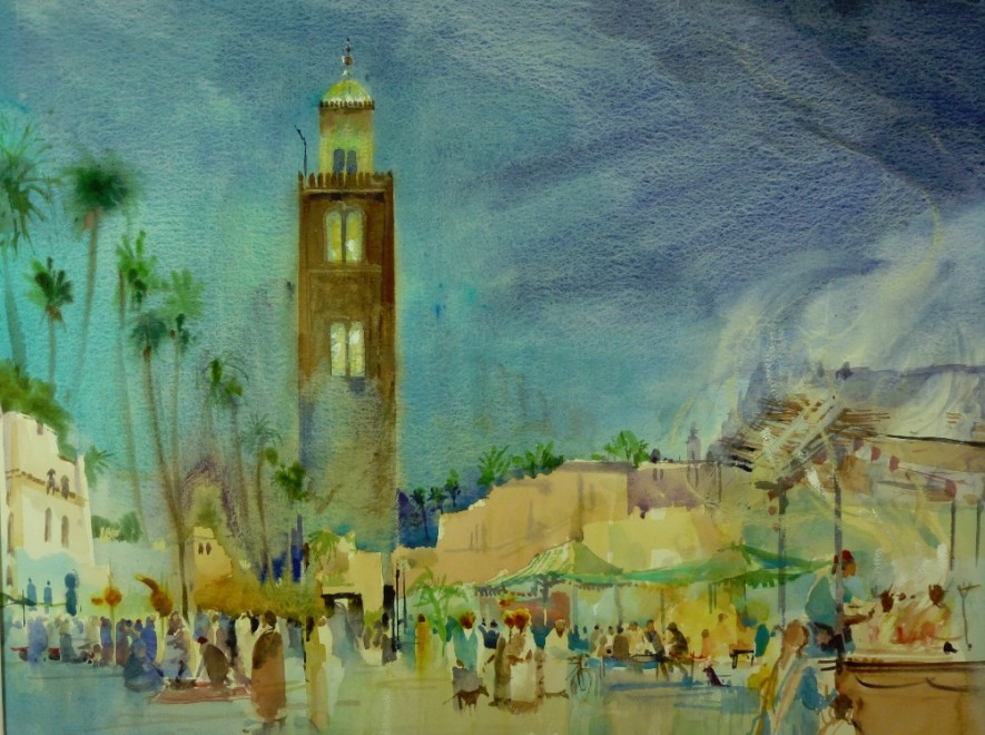 Marrakesh Market at Night