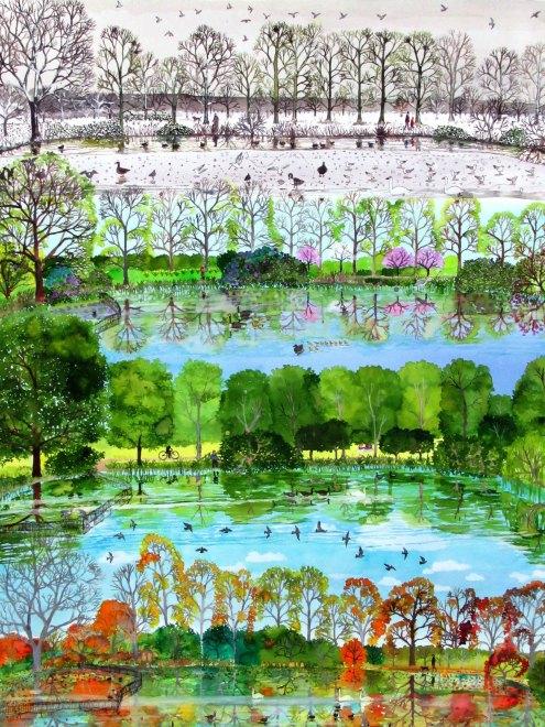 Lake in Winter, Spring , Summer, Autumn