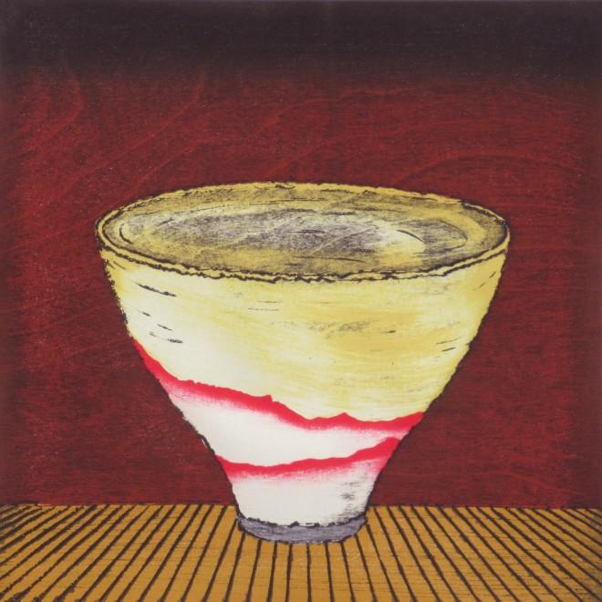 Study, Tea Bowl -Red Mountains-