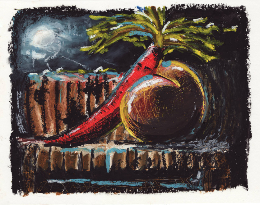 Joe Madeira, Still-life with insomniac carrot, 2018