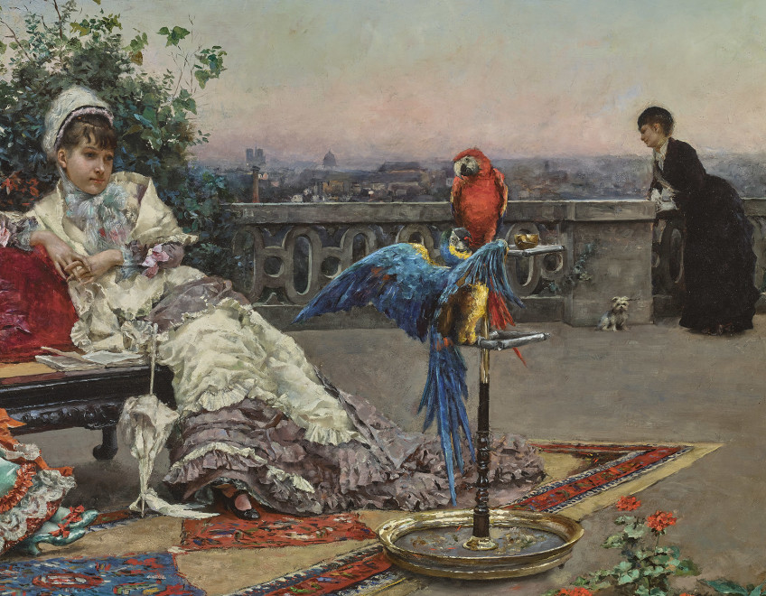 TWILIGHT ON THE TERRACE, PARIS