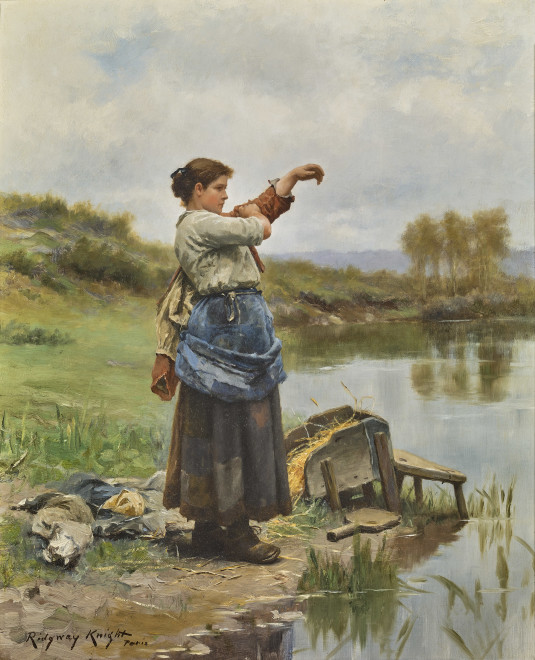 YOUNG LAUNDRESS (JEUNE FILLE METTANT CARACO)