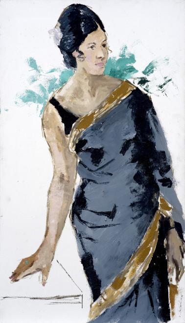 Yashwant Mali, Untitled (Seated Woman), 1975