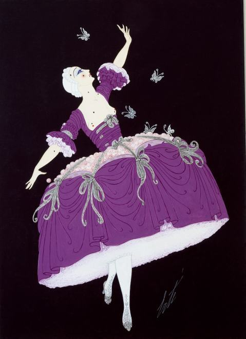 Romain de Tirtoff dit Erté, Ballet costume for Venice in the Eighteenth Century, 1919