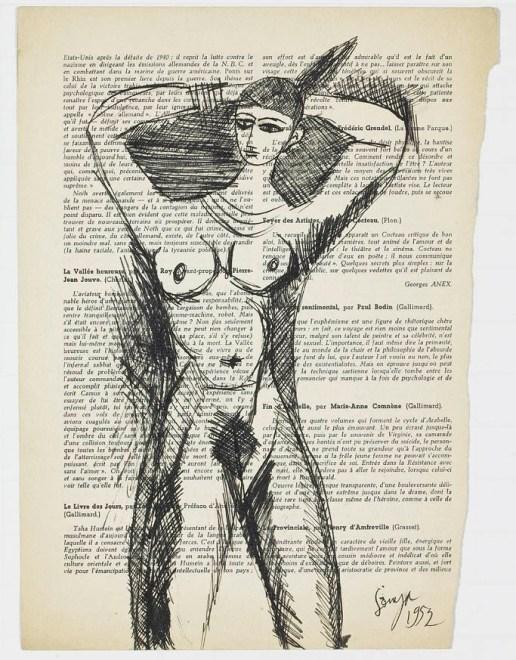 Francis Newton Souza, Standing Nude, 1952