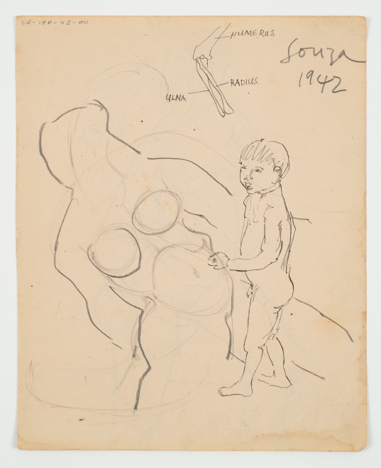 Francis Newton Souza, Untitled (Composition with Boy), 1942