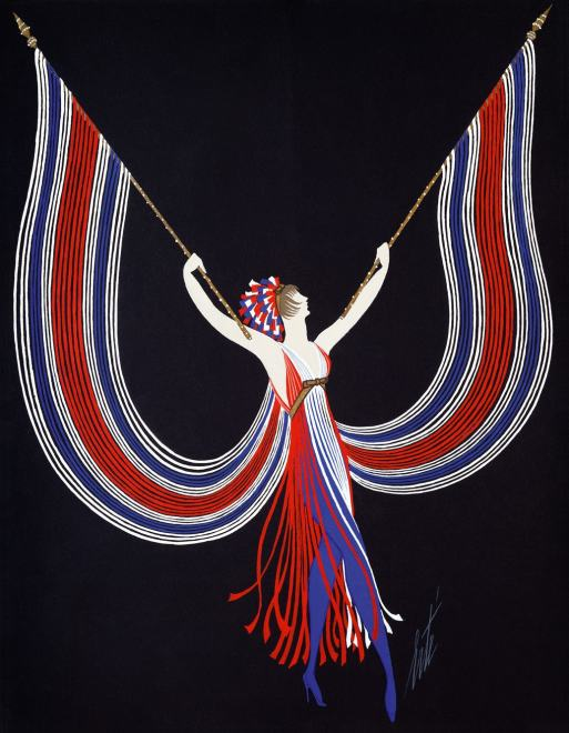 Romain de Tirtoff dit Erté, Dancer's costume, 1967
