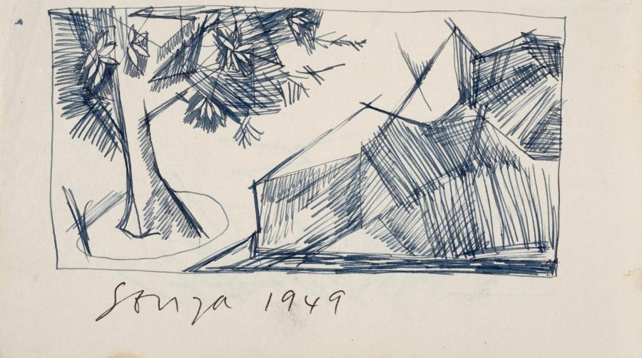 Francis Newton Souza, Untitled (Landscape), 1949