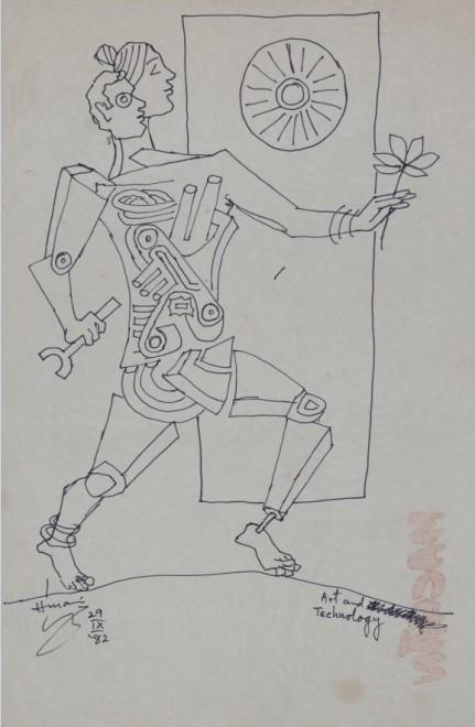 Maqbool Fida Husain, Art and Technology, 1982