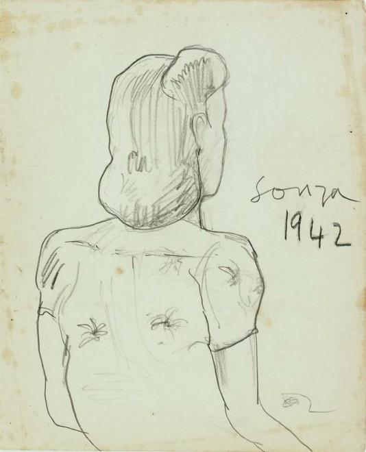 Francis Newton Souza, Untitled, 1942