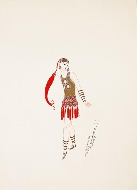 Romain de Tirtoff dit Erté, Costume for Le Page de la Nuit, 1924