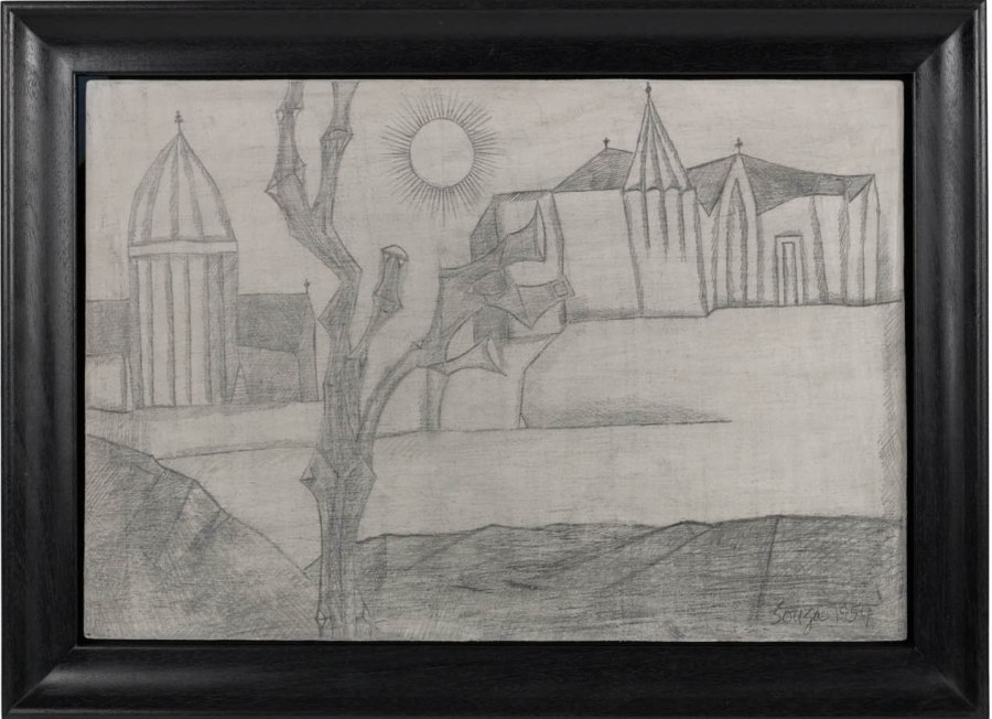 Untitled (Landscape with Sun and Church)