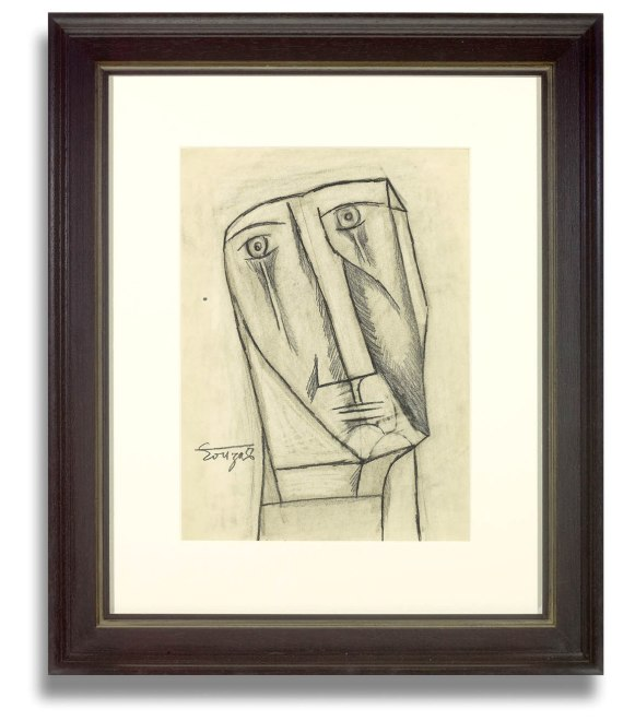 Francis Newton Souza, Untitled (Abstract Head) 1956