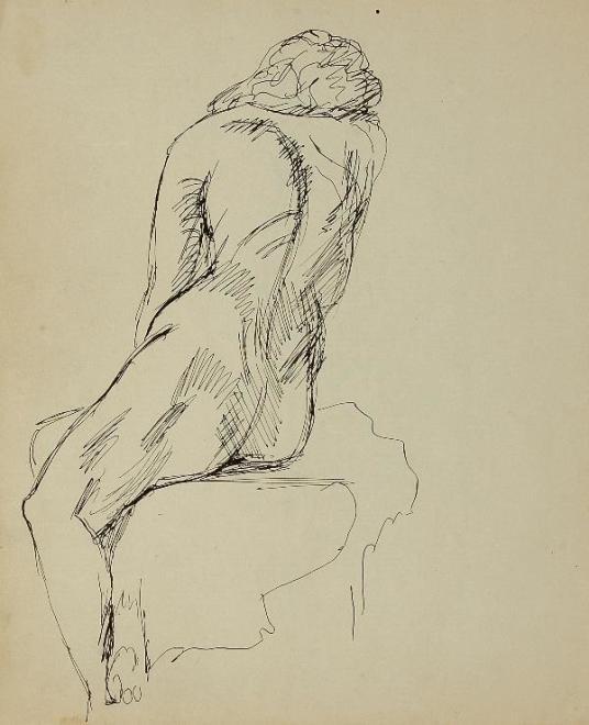 Francis Newton Souza, Untitled (Nude), 1942