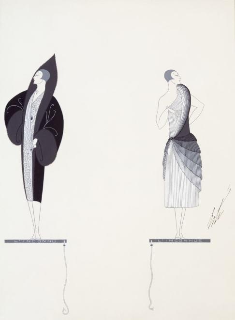 Romain de Tirtoff dit Erté, L'Inconnue et l'inconnu, 1926