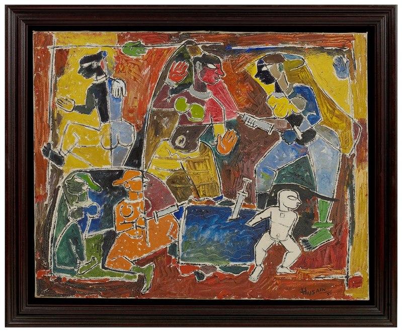Maqbool Fida Husain, Holi, 1951