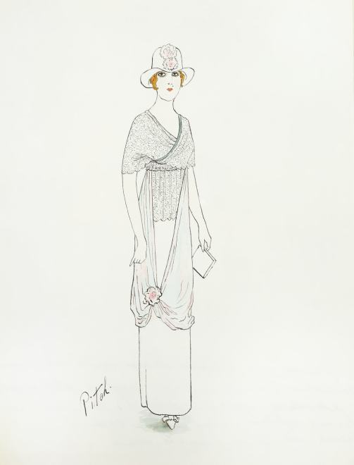 Romain de Tirtoff dit Erté, Afternoon dress, 1912