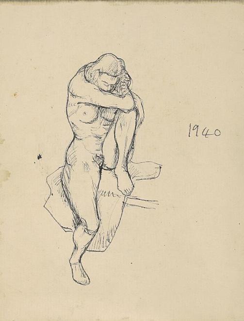 Francis Newton Souza, Untitled (Nude), 1940