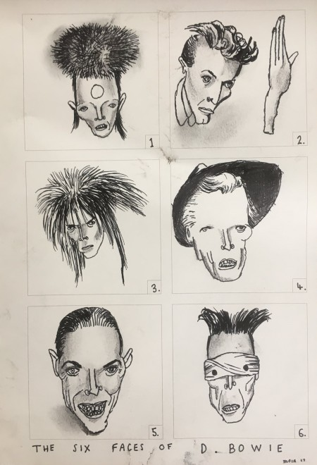 Jim Moir, The Six Faces of David Bowie, 2017