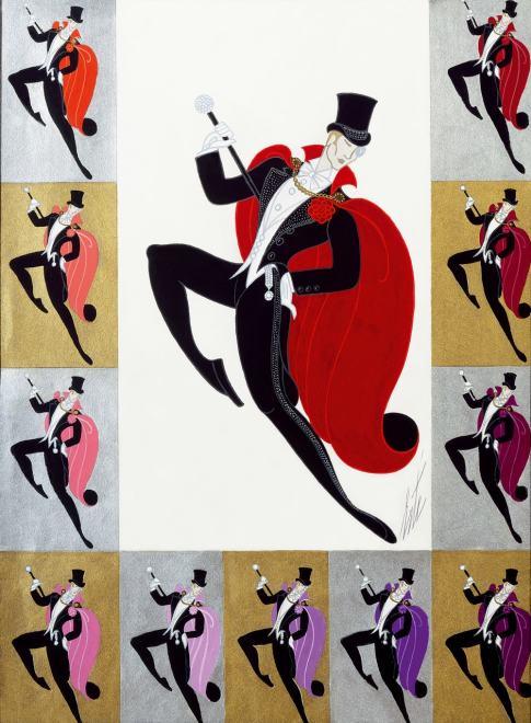 Romain de Tirtoff dit Erté, Dancers, 1971