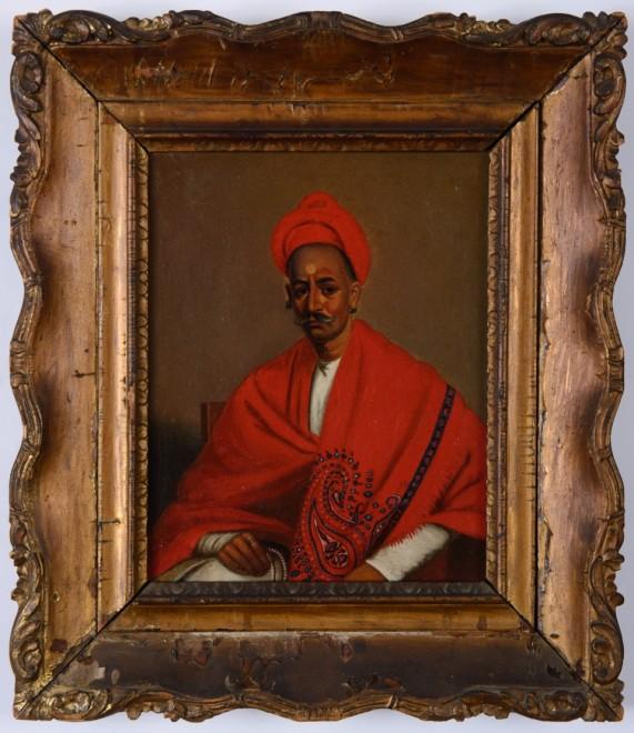 Studio of Lamqua, Portrait of Balaji Pandit Nana Phadnavis or Fadnavis (1742–1800)