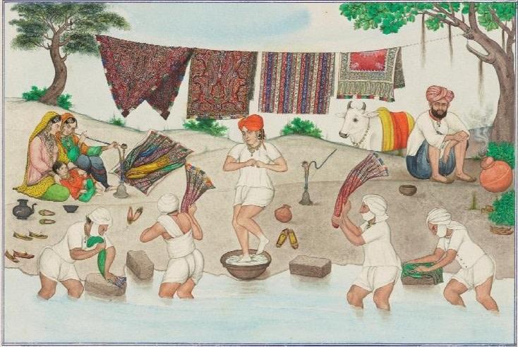 Washing Kashmir Shawls, 1870-1880