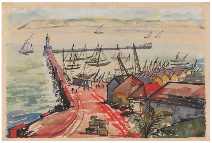Francis Newton Souza, Marmagoa Harbour, 1944
