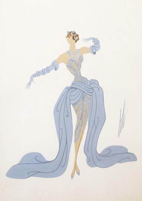 Romain de Tirtoff dit Erté, Costume, 1951