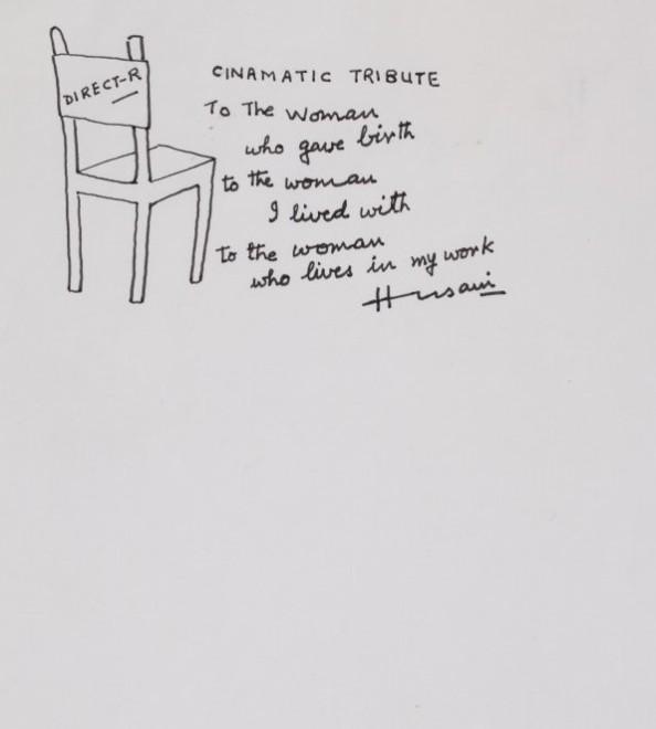 Maqbool Fida Husain, Untitled (Director's Chair)