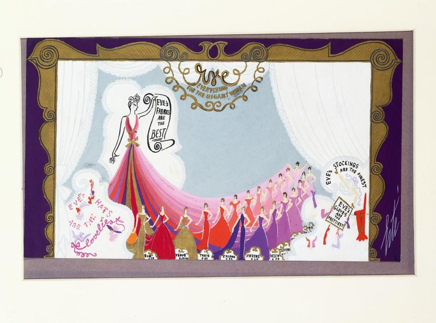 Romain de Tirtoff dit Erté, Design for window display, 1948