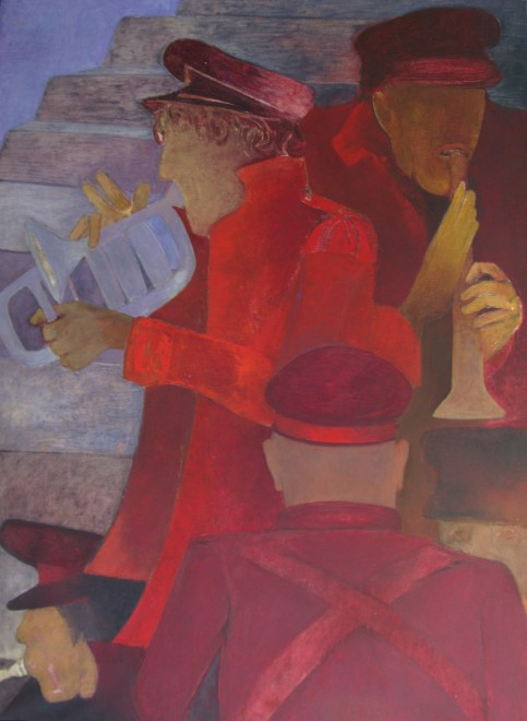 Krishen Khanna, Untitled (Bandwallas), 2000