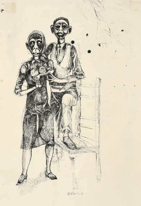 Dumile Feni, Man and Wife, 1968