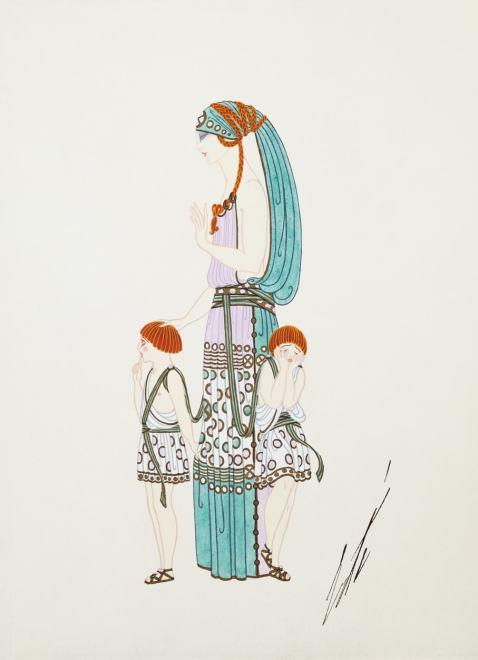 Romain de Tirtoff dit Erté, Costume for Les Idoles, 1924