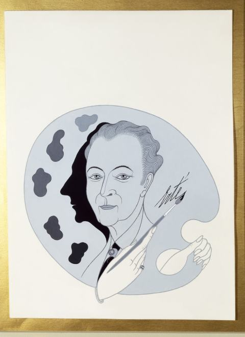Romain de Tirtoff dit Erté, Self-portrait for Arts Review, 1969