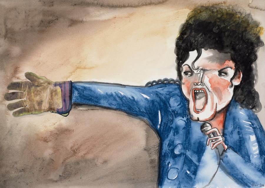 Jim Moir, Michael Jackson with Gardening Glove, 2016