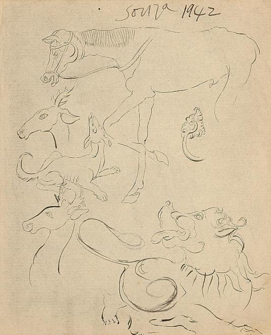 Francis Newton Souza, Untitled (Animals), 1942