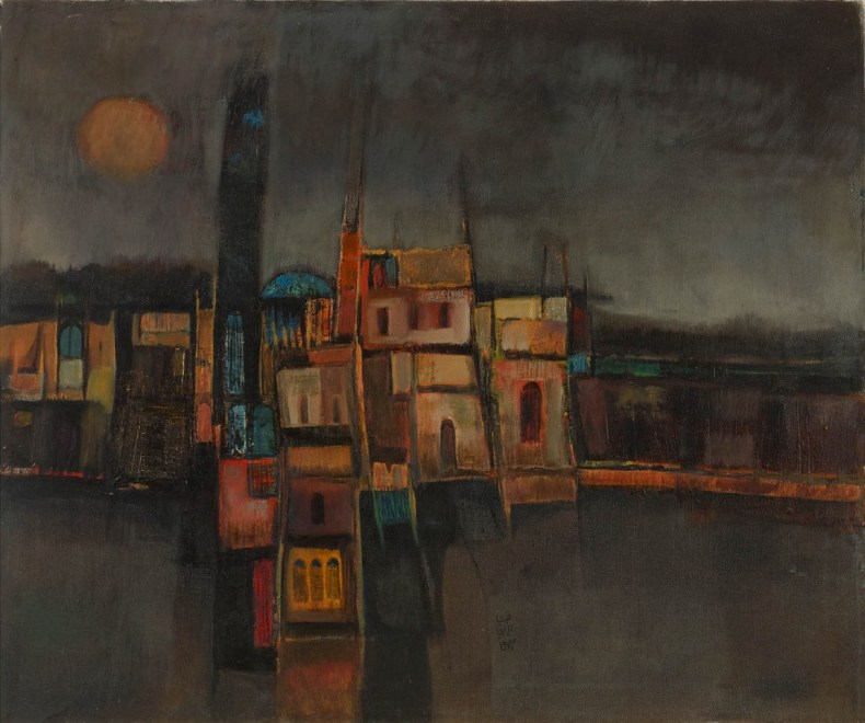 Nouri Al-Rawi, Untitled (Townscape at Night), 1982