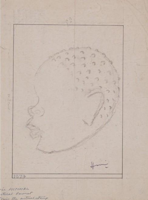 Maqbool Fida Husain, Untitled (Head Study)