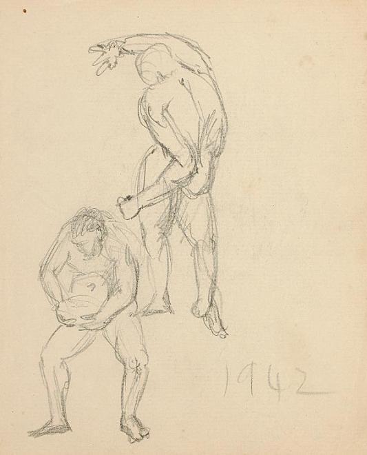 Francis Newton Souza, Untitled (Figure Studies), 1942