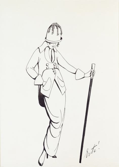 Romain de Tirtoff dit Erté, Costume for Poiret, 1913